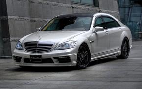 Картинка светлый, Машина, Машины, Mercedes, темная крыша, S класс