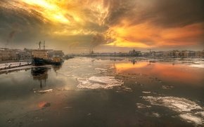 Картинка река, вид, Санкт-Петербург, Россия, Нева