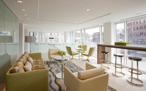 Картинка дизайн, город, стиль, интерьер, отель, помещение