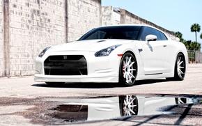 Обои auto wallpapers, ниссан, cars, nissan, авто обои, тачки, авто фото, gtr, белая