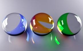 Обои Шары, Balls, Стеклянные Шарики, Glassy