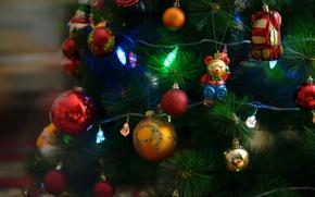 Картинка настроение, елка, рождество, праздники