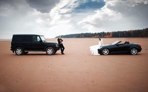 Картинка машины, невеста, свадьба, жених