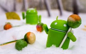 Картинка android, winter, snow, toys, lollipop