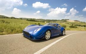 Обои Faralli & Mazzati Antas V8 GT, Дорога, Облака, Горизонт