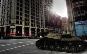 Картинка СССР, танки, WoT, World of Tanks, пт-сау, Объект 704, танк арт