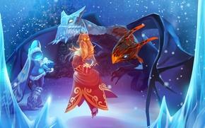 Картинка подарок, Crystal Maiden, Lina, Jakiro