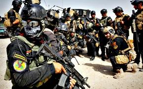 Картинка оружие, армия, солдат, восток, Ирак, спезнац, ближний восток, арабы, Iraqi Special Operations Forces