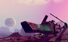 Картинка космос, звездолет, No Man's Sky, Hello Games