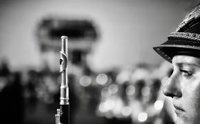 Картинка макро, флейта, духовой инструмент, военный оркестр, флейтистка