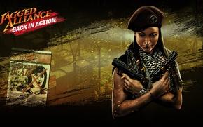 Картинка guns, girl, jagged alliance
