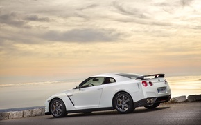 Картинка белый, берег, 2011, R35, Egoist, Nissan GTR