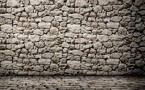 Картинка light, wall, stones