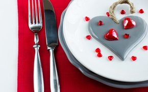 Картинка любовь, романтика, сердце, тарелка, love, heart, romantic, Valentine's Day, сервировка