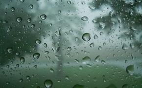 Картинка стекло, вода, капли, дождь