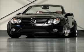 Обои Кабриолет, Mercedes-Benz, SL Maxx, Черный