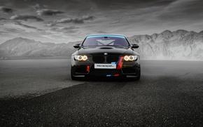 Картинка бмв, BMW, черная, Black, Sedan, E90, MR Car Design