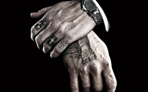Картинка часы, руки, наколки