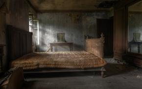 Картинка фон, кровать, окно