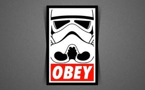 Обои звездные войны, star wars, empire, stormtrooper, obey
