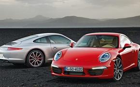 Картинка 911, Porsche, cars, Carrera, red and white, sportcars, porsche wallpaper