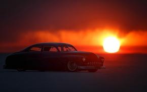 Картинка ретро, рассвет, автомобиль, классика