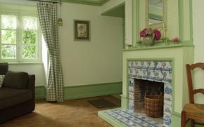 Картинка дизайн, дом, стиль, комната, интерьер, камин, living room colours