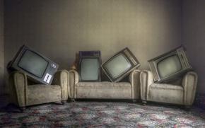 Картинка комната, интерьер, телевизоры