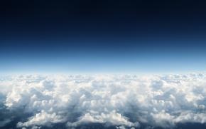 Обои небо, облака, голубой, небеса