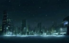 Обои рисунок, снег, Зима