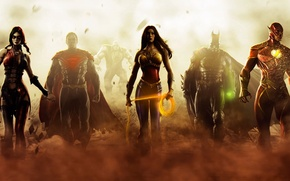 Картинка Wonder Woman, Batman, Superman, 2013, Flash, Gods Among Us, Injustice