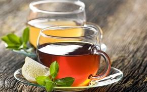 Картинка лимон, чай, чашка