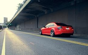 Обои red, Mercedes-Benz, vossen, CLK63 AMG Black Series