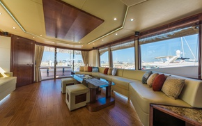 Картинка Dubai, salon, luxury yacht Majesty, tirenaboats