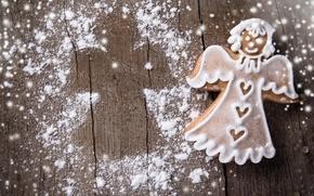 Обои merry christmas, new year, christmas food, cookies, bride