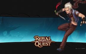 Картинка кинжал, парень, блондин, Royal Quest, Katauri Interactive