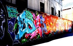 Обои цвет, улица, граффити