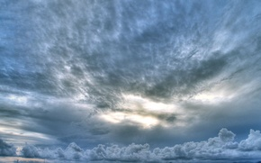 Обои небо, вода, облака