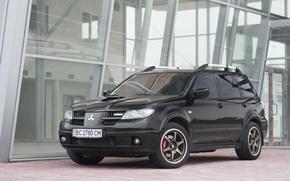 Картинка адреналин, мощная, Mitsubishi Outlander Turbo