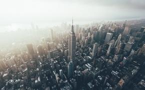Обои Нью Йорк, эмпаир, высотки, город, США