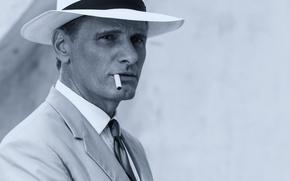 Картинка портрет, шляпа, сигарета, актёр, Viggo Mortensen