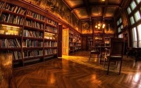 Картинка комната, обои, библиотека