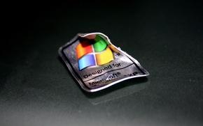 Картинка макро, минимализм, логотип, Windows XP
