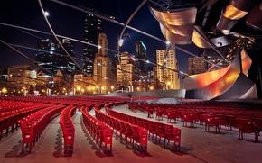 Картинка здания, стулья, небоскребы, USA, америка, чикаго, Chicago, сша, illinois, татр