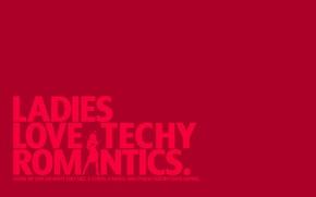 Обои девушка, красный, буквы, минимализм, слова, выражение