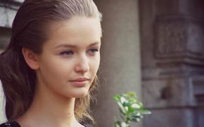Картинка девушка, лицо, милая, модель, красивая, симпатичная, Kristina Romanova, Кристина Романова