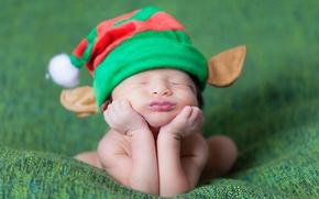 Картинка шапка, сон, малыш, ребёнок