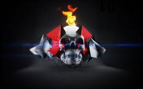 Картинка skull, devil, cried