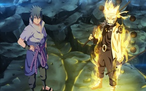 Обои Naruto Shippuden, Sasuke, Naruto, mangekyou sharingan, oriental, asiatic, kunai, genin, asian, Uchiha Sasuke, war, shinobi, ...