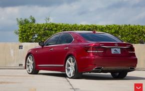 Обои Vossen Wheels, диски, Lexus, корма, wheels, auto, машина, авто, LS460